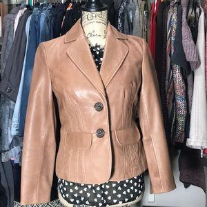 INC Leather Blazer